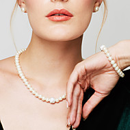 Women's Pearl Chain Bracelet Beaded Necklace Pearl Necklace Ladies Fashion Elegant Bridal Pearl Imitation Diamond White Necklace Jewelry For Wedding Party Daily Casual Masquerade Engagement Party