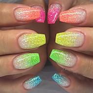 12pcs/set 12 pcs Poudre scintillante 12 couleurs Elégant & Luxueux Brille & Scintille Nail Glitter Paillettes pour