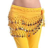 Belly Dance Hip Scarves Women's Performance Chiffon Copper Coin Hip Scarf