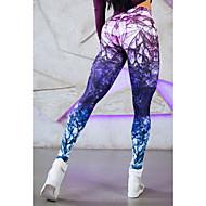Női Sexy Mintás Legging - Különleges dizájn, Nyomtatott Bíbor M L XL / Sovány