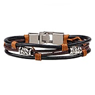 Men's Women's Leather Bracelet woven Personalized Fashion Leather Bracelet Jewelry Black For Casual Going out