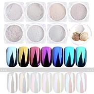 7pcs/set 7pcs Glitterpulver Elegant & Lyxig Mirror Effect Glitter och glans Akrylpuder Glitter för
