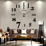abordables -Moderne Acrylique / EVA Rond Romance Intérieur / Extérieur AAA Décoration Horloge murale Numérique Acier brossé Non