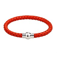 Men's Women's Leather Bracelet woven Magnetic Simple Style Fashion Leather Bracelet Jewelry Brown / Blue / Pink For Casual Going out