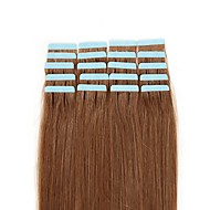 Febay Tape In Human Hair Extensions Straight Human Hair Human Hair Extensions 1 Bundle Nano Women's Light Blonde