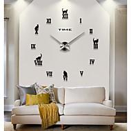 abordables -Casual / Contemporáneo moderno / Oficina / Negocios Acero inoxidable / EVA Circular / 5cm Rombo Tema Asiático / Tema Clásico / Abstracto Interior / Exterior / Interior AAA Decoración Reloj de pared