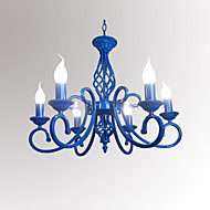6-Light Candle-style Chandelier Ambient Light Painted Finishes Metal Candle Style 110-120V / 220-240V / E12 / E14