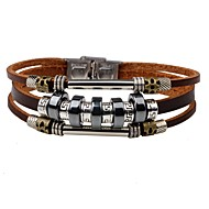 Men's Leather Bracelet Personalized Fashion Leather Bracelet Jewelry Black / Brown For Daily Street