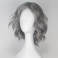 วิกผมสังเคราะห์ วิกคอสตูม ลอนใหญ่ ลอนใหญ่ Mono L ส่วน ผมปลอม Short Gray สังเคราะห์ สำหรับผู้ชาย Gray miss u hair