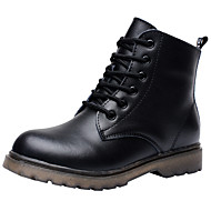 Boys' Comfort / Combat Boots Leather Boots Little Kids(4-7ys) / Big Kids(7years +) Lace-up Black Fall / Winter / Booties / Ankle Boots / TPR (Thermoplastic Rubber) / EU36