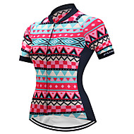 FUALRNY® Women's Short Sleeve Cycling Jersey Red Plaid / Checkered Bike Jersey Mountain Bike MTB Road Bike Cycling Quick Dry Sports Coolmax® Lycra Clothing Apparel / High Elasticity