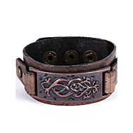 Men's Women's Leather Bracelet Bracelet Vintage Rock Leather Bracelet Jewelry Black / Brown For Gift Casual
