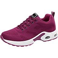 ราคาถูก -สำหรับผู้หญิง รองเท้ากีฬา ถัก ความสะดวกสบาย วสำหรับเดิน ฤดูใบไม้ผลิ / ตก สีม่วง / แดง / สีชมพู / EU39