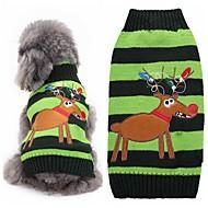 Cat Dog Sweater Winter Dog Clothes Green Costume Acrylic Fibers Reindeer Fashion Christmas XXS XS S M L XL