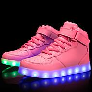 رخيصةأون -للفتيات LED / مريح / أحذية مضيئة مواد متخصصة / جلد أحذية رياضية الأطفال الصغار (4-7 سنوات) / الأطفال الصغار (7 سنوات +) المشي دانتيل / ربطة و حلقة / LED أبيض / أسود / أحمر للربيع والصيف / TR / EU37