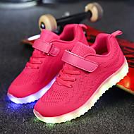 رخيصةأون -للصبيان LED / مريح / أحذية مضيئة شبكة / قماش أحذية رياضية الأطفال الصغار (4-7 سنوات) / الأطفال الصغار (7 سنوات +) لزيق سحري / LED / مضيء أسود / زهري / أزرق داكن الخريف / EU37
