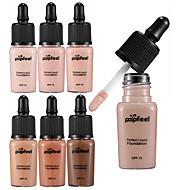 6 farger BB Cream Concealer / Contour Tørr / Våt / Kombinasjon Vanntett / Bleking / Reduserer rynker Foundation / Concealer Amoniakkfri / Fri fra formaldehyd Sminke kosmetisk Flytende