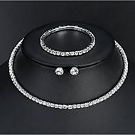 Mulheres Básico Elegante Brincos Jóias Prata Para Casamento Diário