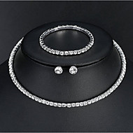 Women's Basic Elegant Earrings Jewelry Silver For Wedding Daily