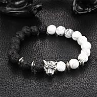 Women's Onyx Bead Bracelet Bracelet yin yang Natural Stone Bracelet Jewelry Black For Party Gift