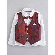 Boys' Solid Blouse, Cotton Fall Long Sleeves Wine