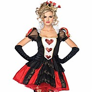 Queen of Hearts Dress Masquerade Women's Halloween Carnival Oktoberfest Beer Festival / Holiday Polyester Red Women's Carnival Costumes Solid Color Fashion / Gloves
