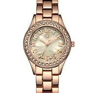 نسائي ساعة المعصم الماس ووتش ساعة ذهبية كوارتز سيدات مقاوم للماء ستانلس ستيل ذهبي مماثل - ذهبي سنتان عمر البطارية / الكرونوغراف