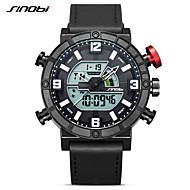 SINOBI Voor heren Sporthorloge Digitaal horloge Kwarts Informeel Waterbestendig Analoog-Digitaal Zwart / Wit / Twee jaar / Japans / Kalender / Stootvast / Stopwatch
