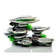 Fish Tank Aquarium Decoration Fish Bowl Rocks Rock Outcrop Black Resin 1pc 20*7.5*12 cm