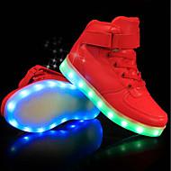 abordables -Chico LED / Confort / Zapatos con luz PU Zapatillas de deporte Niños pequeños (4-7ys) / Niños grandes (7 años +) LED / Luminoso Blanco / Negro / Rojo Primavera verano / Fiesta y Noche