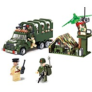ENLIGHTEN Building Blocks Construction Set Toys Educational Toy 308 pcs Vehicles Military Truck compatible Legoing Non Toxic Vehicle Truck Military Vehicle Boys' Girls' Toy Gift