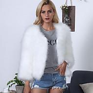 Winter Long Sleeve Soild Coats Jackets Faux Fur Wedding Party Evening Women's Wrap Faux Fur Shawl Faux Fur Stoel
