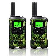 billige -toveis radiointercom 22 kanal 3 miles lang rekkevidde barn walkie talkies gutter jenter leker gaver batteridrevet walky talky med lommelykt for utendørs eventyrcamping (camo)