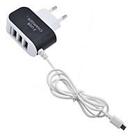 cheap -Portable Charger USB Charger EU Plug Multi Ports 3 USB Ports 3.1 A for