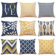 Set of 9 New Living Series Rustic Tie Die Decorative Throw Pillow Case Cushion Cover 18 x 18 inches 45 x 45 cm