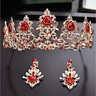 Alloy Tiaras with Crystal 1pc Wedding / Party / Evening Headpiece