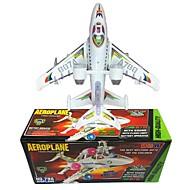 Toy Airplane Model Building Kit Plane Plane / Aircraft Walking Electric Soft Plastic Kid's Boys' Girls' Toy Gift 1 pcs
