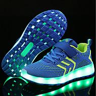 abordables -Chico LED / Confort / Zapatos con luz Red / Tejido Zapatillas de Atletismo Niños pequeños (4-7ys) / Niños grandes (7 años +) Cinta Adhesiva / LED / Luminoso Negro / Rojo / Negro / Rosa Primavera