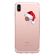 Case For Apple iPhone X / iPhone 8 Plus / iPhone 8 Transparent / Pattern Back Cover Christmas Soft TPU