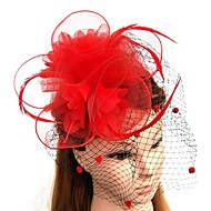 Feather / Net Fascinators / Flowers / Hats with Feathers / Fur / Floral 1pc Wedding / Special Occasion Headpiece