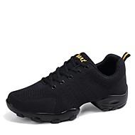 cheap -Men's Dance Shoes Knit Dance Sneakers Sneaker Low Heel Customizable White / Black / Professional / EU43