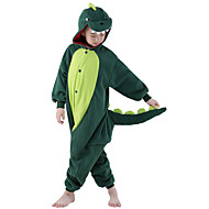 Kid's Dinosaur Kigurumi Pajamas Onesie Pajamas Polar Fleece Green Cosplay For Animal Sleepwear Cartoon Halloween Festival / Holiday / Christmas