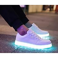 رخيصةأون -رجالي أحذية الراحة PU الخريف / الشتاء LED أحذية رياضية أسود / أبيض / الأماكن المفتوحة