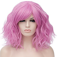 Synthetic Wig Water Wave Kardashian Water Wave Wig Blonde Pink Short Light golden Pink / Purple Light Brown Purple / Blue Rose Gold Synthetic Hair Women's Red Blue Blonde