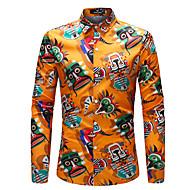 Men's Daily Going out Boho Shirt - Rainbow Rainbow / Long Sleeve