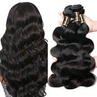 4 Bundles Peruvian Hair Body Wave Virgin Human Hair Natural Color Hair Weaves / Hair Bulk Human Hair Weaves 8a Human Hair Extensions / 10A