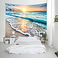 cheap -Wall Tapestry Art Decor Blanket Curtain Picnic Tablecloth Hanging Home Bedroom Living Room Dorm Decoration Landscape Beach Sea Ocean Wave Sunrise Sundset