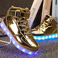 abordables -Chico LED / Confort / Zapatos con luz PU Zapatillas de deporte Niños pequeños (4-7ys) / Niños grandes (7 años +) Paseo Con Cordón / Cierre Autoadherente / LED Negro / Rosa polvorienta / Dorado / EU36