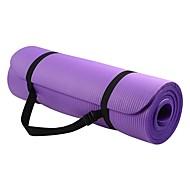 Yoga Mat 183*61*1 cm Odor Free Eco-friendly Sticky Non Toxic Rubber Waterproof Quick Dry Non Slip For Yoga Pilates Bikram Black Pinky Violet