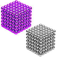 2*216/2*432 pcs 3mm Magnet Toy Magnetic Balls Building Blocks Super Strong Rare-Earth Magnets Neodymium Magnet Neodymium Magnet 2 colors and 216 pcs for each color Stress and Anxiety Relief Office